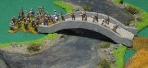 Lancastarians crossing the bridge...